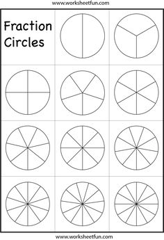 FREE* Fraction Worksheets (Frugal Homeschool Family) | Learning ...