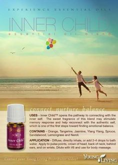 Inner Child™ opens the pathway to connecting with the inner self that may have been damaged through childhood misuse or abuse. When children have been abused, they become disconnected from their natural identity, or inner child. This causes confusion and can contribute to undesirable personality traits. The sweet fragrance of this blend may stimulate memory response and help reconnect with the authentic self, which is one of the first steps toward finding emotional balance.