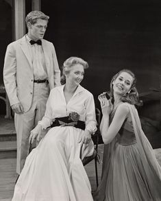 """James MacArthur, Celeste Holm, and Jane Fonda in """"Invitation to a March"""" by Arthur Laurents, Arthur Laurents, Celeste Holm, James Macarthur, Theatre Posters, Theatre Plays, Jane Fonda, Golden Age, Behind The Scenes, Broadway"""