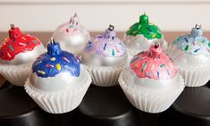 DIY Christmas Ornaments #CUPCAKES #DollarStore #crafts