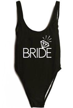 a1fb76a8dc31a 2017 Sexy Black High Cut Bride Swimwear One Piece Swimsuits Women Letter  Print Bathing Suit Monokini Beachwear Bodysuit