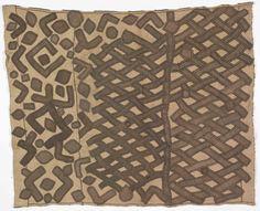 Africa | Kuba people, DR of Congo | A single panel of an appliqué dance skirt | Raffia | The Honolulu Museum of Art