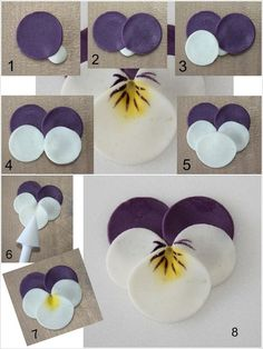 These Polymer Clay Pansies Truly Deserve a WowYou can find Polymer clay flowers and more on our website.These Polymer Clay Pansies Truly Deserve a Wow Diy Fimo, Polymer Clay Crafts, Felt Crafts, Fabric Crafts, Diy And Crafts, Simple Crafts, Paper Flowers Diy, Handmade Flowers, Felt Flowers