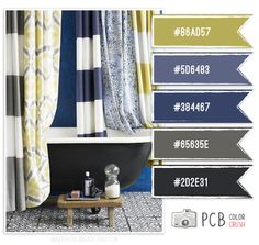 Color Scheme: Grays, Blues, A Touch Of Green