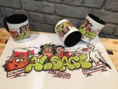 """Mugs et sets de table """"Alsace"""""""