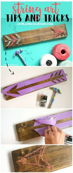 How to do string art- tips and tricks - I put on a craft night every month….and I got this great idea to do string art. I thought it woul - Girls Night Crafts, Craft Night, Crafts For Girls, Crafts To Do, Easy Crafts, Arts And Crafts, Crafts Cheap, String Art Diy, String Art Patterns