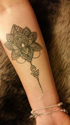 Boho, unalome, Lotus Flower forearm tattoo by Nunu @ Starcat, Koh Samui, Thailand