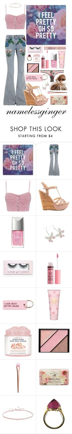 """""""untitled #583"""" by namelessginger ❤ liked on Polyvore featuring Trademark Fine Art, Gucci, Jessica Simpson, Christian Dior, L'Oréal Paris, Boohoo, Charlotte Russe, Various Projects, Tory Burch and Elizabeth Arden"""