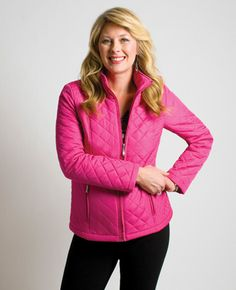 Northern Reflections - pink quilted jacket Quilted Jacket, Jewerly, Reflection, Vest, Pink, Jackets, Fashion, Down Jackets, Moda