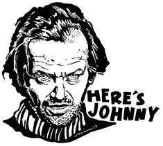 The Shining - Here's Johnny Sticker Decal Glassy Vinyl Laptop Locker Notebook Movie Quote Fun Creepy Jack Nicholson Heres Johnny The Shining, Notebook Movie Quotes, Jack Nicholson The Shining, Traditional Black Tattoo, Black And White Stickers, Here's Johnny, Presents For Teachers, Best Background Images, Iconic Movies