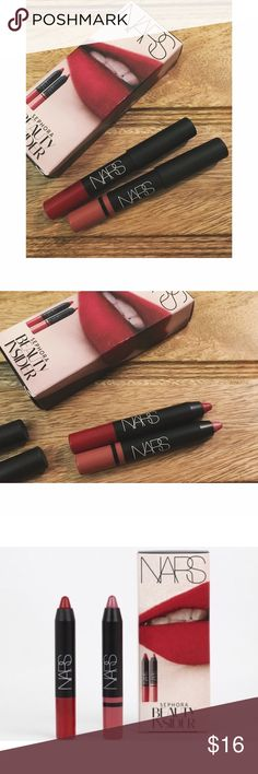 New NARS lip crayons New in box - NARS Sephora Beauty Insider Special package with two beautiful lip crayons that won't dry your lips out!    + 1 shade: Cruella 0.06 oz  + 1 shade: Rikugien 0.05 oz + no trades or low-ball offers please  Bundle two or more items and save over 15%! Sephora Makeup Lipstick