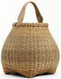 Incredible shape...craftsmanship...unusual! Cat head Teardrop, white oak basket | Leon Niehues