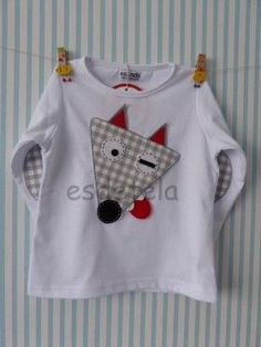 lobo1 Boys Clothes Style, Diy Clothes, Clothes For Women, Sewing For Kids, Baby Sewing, I Love Fashion, Kids Fashion, Make Your Own Shirt, Kids Tops