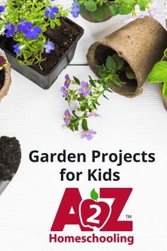 Looking for a hobby, lesson, life skill, or all the above? Include gardening for children in your homeschool with these garden projects for kids. Fun Summer Activities, Steam Activities, Science Activities, Homeschool Blogs, Homeschooling, Garden Projects, Projects For Kids, Kids Az, Environmental Education
