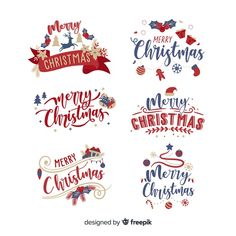 Christmas lettering label on white background Free Vector Free Printable Christmas Cards, Christmas Labels, Christmas Cards To Make, Christmas Clipart, Christmas Stickers, Christmas Signs, Christmas Printables, Xmas Cards, Clipart Noel