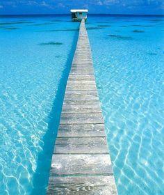 Turquoise, Sea Dock, Tahiti photo via rachel