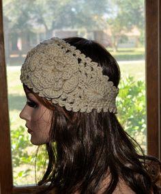 Crochet Ear Warmer Handmade Crochet Headband with by Cobanul, $18.00