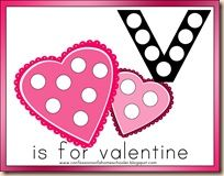 V is for Valentine - great resources on V for Valentine. Maybe next year! Really good ideas and templates.