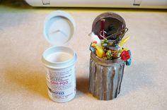 Um pequeno Desejo dos corações: lata de lixo a partir de tiras teste de glucose
