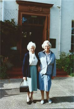 Fast forward at least five decades... in front of Ballathie House, where they loved to go for tea