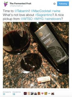 Grazie mille to The Fermented Fruit for sharing how they #TrovareTabarrini with the #Sagrantino Colle Grimaldesco #wine #winelovers