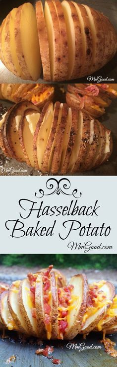 The hasselback potato will become your new favorite recipe or side dish as you can modify each potato to the likings of your guests, they are super easy to make and leftovers are great with eggs! The only question I have...why didn't I think about trying this recipe sooner? | www.MmGood.com