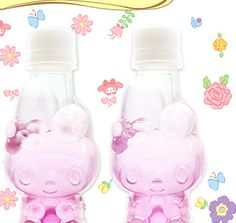 My Melody 40th anniversary water bottles ^_−☆ Sweet!