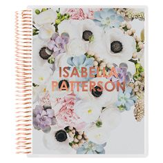 in bloom metallic rose gold notebook from Erin Condren
