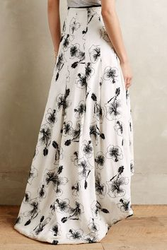 Sequined Hibiscus Skirt - anthropologie
