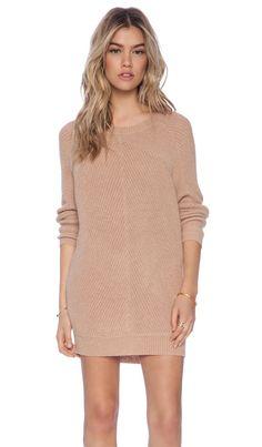American Vintage Lubbork Sweater Dress in Nude