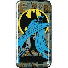 Batman Batman Wallet ($9.99) ❤ liked on Polyvore featuring bags, wallets, fake bags, snap closure wallet, blue wallet, blue bag and snap wallet