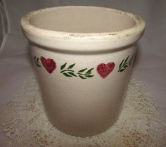 Vintage Half Gallon Stoneware Pottery Crock by PuppyLuckArt