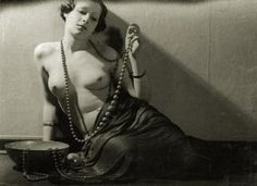 Female nude with necklace 1930s. Attributed to Jean-Marie Auradon.
