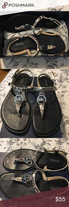 Michael Michael Kors Sandals Michael Michael Kors scandals, snakeskin pattern, only worn twice MICHAEL Michael Kors Shoes Sandals