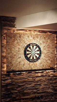 Wine cork dart board.