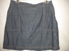 Dockers Size 6 Lightweight Shorts Underneath Skirt Outside Womens Denim Skort #Dockers #Skorts