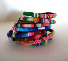 Andean textile bracelets