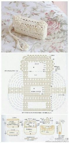 Crochet pattern bag ༺✿ƬⱤღ https://www.pinterest.com/teretegui/✿༻