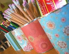 Decoupage cans