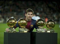 Messi . Cuatro Balones de Oro seguidos 2009-2012