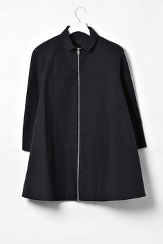 COS navy blue coat with high collar