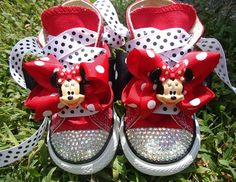Jamie Warmanberg posted MINNIE MOUSE CONVERSE Shoes - Swarovski crystals - Red Converse hi tops - ETSY to his -Theme parks i love- postboard via the Juxtapost bookmarklet.