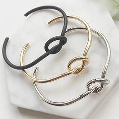 2016 New Arrival Women Fashion Elegant Simple Style Jewelry Knot Adjustable Open Bracelet BangleDF167WD