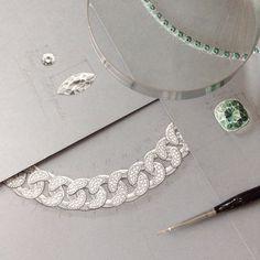 Jewelry sketches by Lena Limkina for Masha Mardi Jewelry
