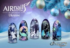 Butterfly Nails - Spring-Summer 2017 Manicure - Pastel butterfly nails - Butterfly nail art with the rhinestone - Colored butterflys on short nails - Uñas De. Airbrush Nail Art, Airbrush Designs, Winter Nails, Summer Nails, Nail Art Wheel, Butterfly Nail Art, Butterfly Design, Nail Polish Crafts, Valentine Nail Art