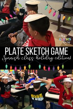 Quick Tip: Plate Sketch Game -  perfect for Christmas in Spanish class