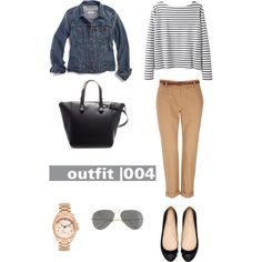 "Outfit 004 from the set ""38 item Capsule Wardrobe"" by designismymuse on Polyvore featuring Wood Wood, Madewell, Wallis, Zara, Michael Kors and J.Crew"