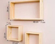Wooden Wall Shelves, Wall Shelves Design, Wooden Walls, Floating Shelves, Creative Wall Decor, Creative Walls, Palette Deco, Diy Wood Projects, Diy Furniture