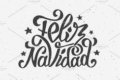 Feliz Navidad lettering - Illustrations