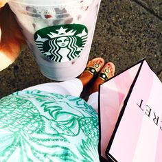 """lawandtea: """" Finally tried one of the @starbucks fruit drinks [purple one!] during a little shopping trip  which is your favorite?! // #lillypulitzer #jackrogersusa #victorassecret (at Westfield, New Jersey) """""""